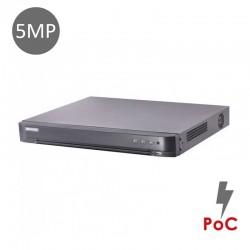 XVR 8-CH 5MP 10TB POC DS-7208HUHI-K1/P